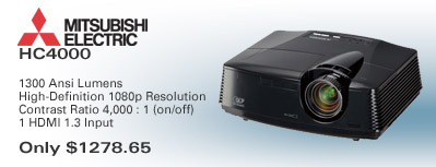Mitsubishi HC4000 1080p Home Theater Video Projector