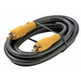 Steren BL-216-112BK 12 ft Composite/Stereo Cable